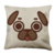 Puglie Tongue Out Poot Face Linen Pillow Case