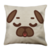 Puglie Sleepy Poot Face Linen Pillow Case