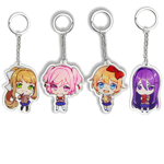 4-Pack Con Exclusive Double Sided Keychain Bundle