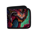 Demon Warrior Canvas Wallet
