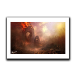 Burning City Concept Art Print