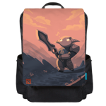 Rogue Knight at Your Service Backpack Flap