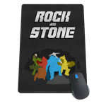 ROCK AND STONE, BROTHER Mousepad