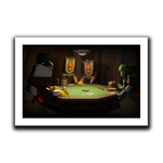 APDs Playing Poker Art Print