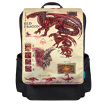 Red Dragon Info Backpack Flap