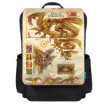 Gold Dragon Info Backpack Flap