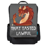 That Tasted Lawful Backpack Flap