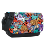 Chibi Monsters Sublimated Messenger Flap