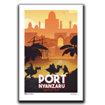 Port Nyanzaru Travel Poster