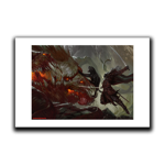Drizzt vs Demogorgon Art Print