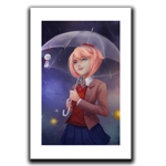 Rainy Day With Sayori Art Print
