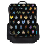 Jackal Mount Pattern Backpack Flap