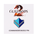 Guild Wars 2 Commander Badge Pin