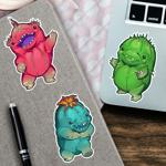 Dancing Choya Sticker 3 Pack