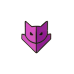 Guild Wars 2 Purple Catmander Badge Pin