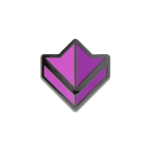 Guild Wars 2 Purple Commander Badge Pin