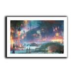 Festival Lights Art Print