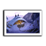 Winter's Lodge Art Print