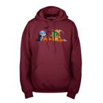Quaggan and Choya Trick-Or-Treating! Pullover Hoodie