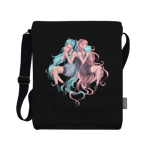 Cotton Candy Divas Vertical Messenger Bag