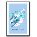 Star Powered Miku Art Print