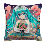 Flower Birthday Miku Pillow Case