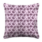 Mutie Pattern White Pillow Case