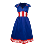 Captain America Vintage Dress