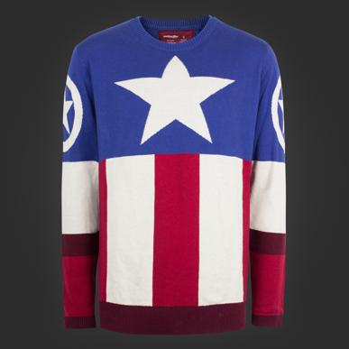 296c7044ebe Marvel Captain America Uniform Sweater