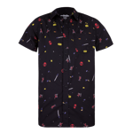Deadpool Hand Drawn Woven Button Up