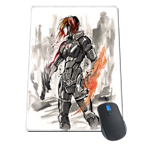 Sumi Style Commander Shepard Mousepad