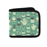 Green Pattern Succulents Canvas Wallet