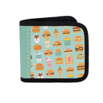 Burger Menu Pattern Canvas Wallet