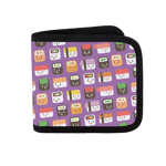 Sushi Menu Pattern Canvas Wallet