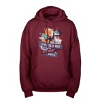 Hard Life Cats Pullover Hoodie