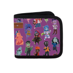 Monster Toss Print Canvas Wallet