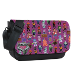 Monster Toss Print Messenger Bag