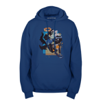 Blue & Yellow Pullover Hoodie