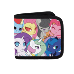 My Little Pony Chibi Toss Canvas Wallet