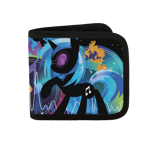 Black Vinyl Scratch Silhouette Canvas Wallet