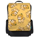 Pineapple Shiba Toss Backpack Flap