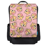 Peach Shiba Toss Backpack Flap