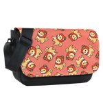 Strawberry Shiba Toss Sublimated Messenger Flap