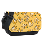 Pineapple Shiba Toss Sublimated Messenger Flap