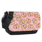 Peach Shiba Toss Sublimated Messenger Flap