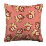 Strawberry Shiba Toss White Pillow Case
