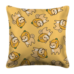 Pineapple Shiba Toss White Pillow Case