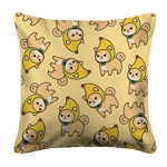 Shibanana Toss White Pillow Case