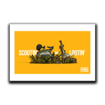 Scootin' and Lootin' Art Print