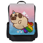 Puglie Unicorn Rainbow Poot Backpack Flap